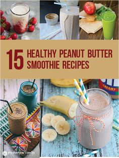 15+Vegan+Peanut+Butter+Smoothie+Recipes