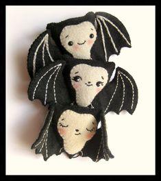 PDF Cute bat halloween pattern Plush Doll Pattern by Noialand, $3.50