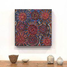 A beautiful new work by Tina Napangardi Martin sharing her Jinti-parnta Jukurrpa…