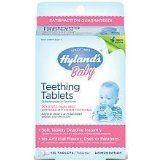 fast, natural help with teething pain: homeopathic teething pills.   These tiny white pills are sweetened with lactose, a sugar abundant in breastmilk rather than white sugar or artificial sweeteners.