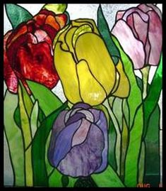 Best of Stained glass pattern group for 2005.  Nice variation and texture in the glass used for the petals