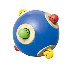 Kiekeboe houten bal Wonderworld vanaf 1 jaar, vrolijk en uitdagend