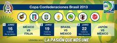 Este es el calendario de México en la Copa Confederaciones