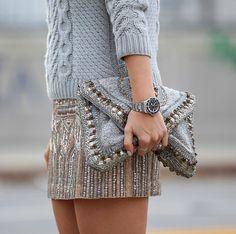 sweater + sparkle.
