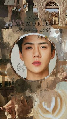 Beige Aesthetic, Kpop Aesthetic, Tumblr Wallpaper, Iphone Wallpaper, Sehun Cute, Chanyeol Baekhyun, Exo Lockscreen, Exo Fan, Colorful Wallpaper