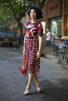 Yoshiko Okura, ELLE China | Street Fashion | Street Peeper | Global Street Fashion and Street Style