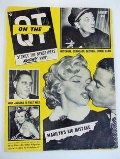 Marilyn Monroe 1955 Magazine cover with Joe by DaysofYoreTreasures