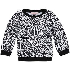 38f7a883f TOPSHOP Mini Graffitti Sweater ($15) ❤ liked on Polyvore featuring tops,  sweaters,