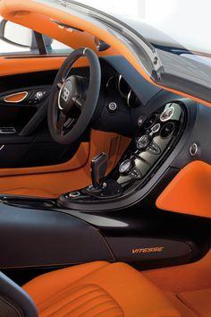 Bugatti interior - black & orange