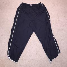 black Nike women's sweats / fitness pants black Nike women's sweats / fitness \ track  pants - white stripes down the side (Large 12-14) Nike Pants