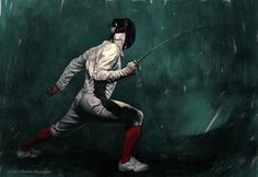 "Benlin Alexander | Stunning #lighting and #illustration via http://benlinalexander.com/ ""Shadow Fencer"" #fencing #art #amazing #incredible"