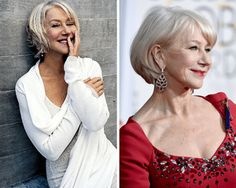 If you're 50 and up, consider the variety of bobs in this slide show. They include classic bobs and long bobs for every hair texture and face shape.: Helen Mirren