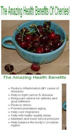 Life can definitely be a bowl of cherries when we consider the benefits of these beauties