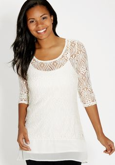 lace tunic top with