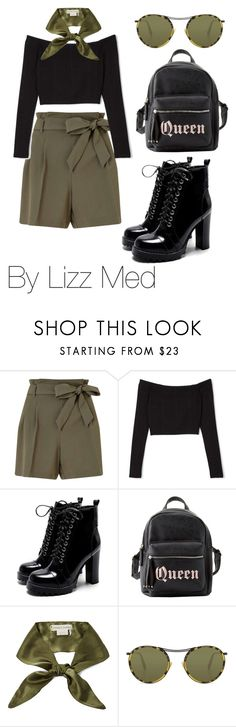 """""""Green Day"""" by lizz-med ❤ liked on Polyvore featuring Miss Selfridge, Charlotte Russe, donni charm and Oliver Peoples"""