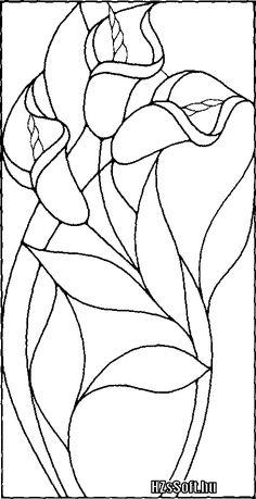 Résultats de recherche d'images pour « flower patterns to trace and paint Glass Painting Patterns, Stained Glass Patterns Free, Stained Glass Quilt, Glass Painting Designs, Stained Glass Flowers, Faux Stained Glass, Stained Glass Designs, Stained Glass Panels, Stained Glass Projects