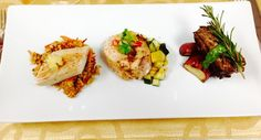 1.Pineapple fried rice w/ grilled mahi.   2. Roasted zucchini and squash with chicken pocket filled sundried tomatoes , kale, and Gruyere cheese.  3. Roasted redskin potatoes with churasaco and a hint of rosemary. Which is your favorite? #yummy #miamicatering #miamievents #bestfood  Sfcateringnevents