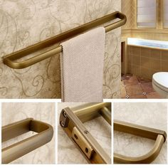 Luxury-Modern-Bathroom-Towel-Rack-Holder-Antique-Brass-Towel-Bar-Single-Hanger