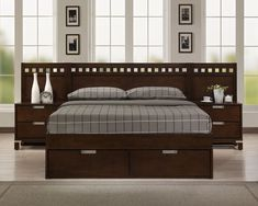 king size bed with storage | ... Finished Bedroom Set with Storage ...