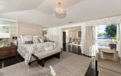 For nearly two decades former NBA player Derek Fisher worked hard to make a name for himself on the basketball court. Over the course of his career, Fisher Celebrity Bedrooms, Derek Fisher, Long Valley, Chandelier Bedroom, Home And Family, Couch, Mansions, Furniture, Home Decor