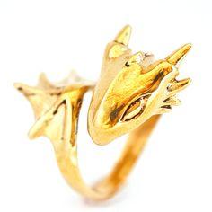 Golden Dragon Ring by MONVATOO London | Fab.com