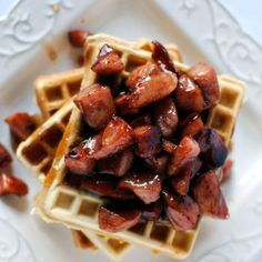 Waffle House Cheddar Waffles with Kielbasa in Maple Syrup Recipe Copycat