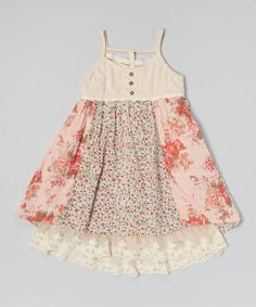 Look what I found on #zulily! Pink & Blue Floral Tank Dress - Toddler & Girls by Free Planet #zulilyfinds