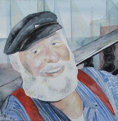 Impressionen von der Hanse Sail   Portrait in Aquarell – Käptn Carly (c) Frank Koebsch