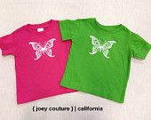 Butterfly Design Available in Onesie Bodysuits, Infant & Toddler T-shirts!