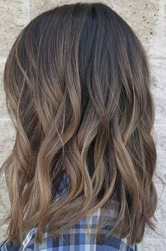Dark Brown Mixed Balayage Color Ideas for Short Hairstyles 2017