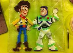 Woody and Buzz - Toy Story perler beads by D'LiLGal