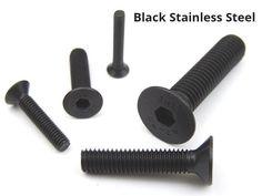 BLACK A2 STAINLESS STEEL SOCKET COUNTER SUNK SCREWS  ALLEN KEY BOLTS