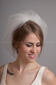 Double Layer Tulle Birdcage Veil Blusher by brendasbridalveils, $49.95