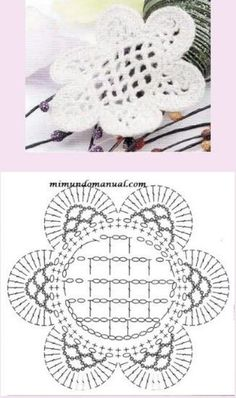 Crochet Flowers Design Como Hacer 24 Flores a Crochet Muy faciles! Appliques Au Crochet, Crochet Motifs, Crochet Flower Patterns, Freeform Crochet, Thread Crochet, Crochet Designs, Crochet Doilies, Crochet Flowers, Granny Square Crochet Pattern