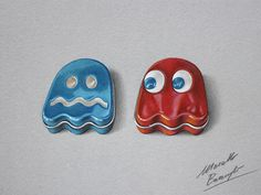 Blinky and Inky Pac Man Ghost Sours Candy Tin by marcellobarenghi.deviantart.com on @deviantART