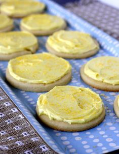 Lemon Sugar Cookies with Lemon Buttercream Frosting!!