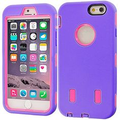 """myLife Hybrid Shock Absorbing {Built In Screen Protector} Case for iPhone 6 (6G) 6th Generation Phone by Apple, 4.7"""" Screen Version {Easter Purple + Faint Pink """"Pastel Design"""" Neo Hybrid Three Piece with Layered Flex Gel SECURE-Fit Armor} myLife Brand Products http://www.amazon.com/dp/B00QJ6MDBI/ref=cm_sw_r_pi_dp_R2HHub1GSXXF9"""