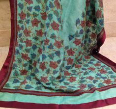 Tussar silk dupatta. For orders and inquiries, please mail us at naari@aninditacreations.com.  Like us at www.facebook.com/naari.aninditacreations