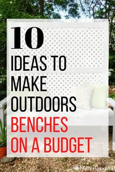 Instantly create a cozy and fun outdoor space with these 10 DIY bench projects. Perfect for your front porch, backyard, patio or deck, these easy seating diy ideas make being outside fun and enjoyable. Rustic Outdoor Decor, Outdoor Seating, Outdoor Fun, Rustic Patio, Outdoor Ideas, Old Cribs, Types Of Furniture, Furniture Ideas, Furniture Makeover