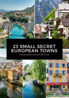 The most beautiful, underrated destinations in Europe you need to know about! Skip the crowds and fall in love with these small secret European towns. travel destinations 23 Small Secret European Towns You Must Visit Europe Destinations, Europe Travel Tips, Travel Hacks, Holiday Destinations, Travelling Europe, Overseas Travel, Travel Goals, Budget Travel, Travel Ideas