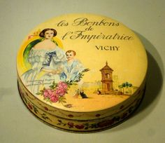 Boîte en tôle ancienne publicitaire   les bonbons de l Impératrice    Vichy
