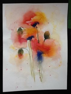 Poppies in watercolour. My version of Joanne Boon Thomas' painting