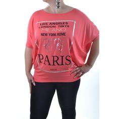 Dámske tričko MILANO - koralové Milan, Graphic Sweatshirt, London, Sweatshirts, Sweaters, Fashion, Moda, Fashion Styles, Trainers