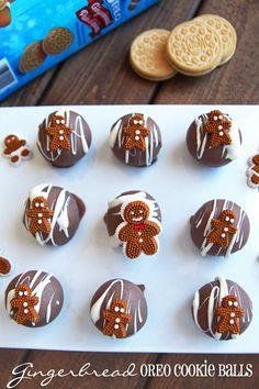 Gingerbread #OREOCookieBalls from @leelalicious