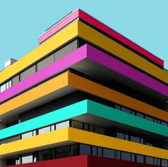 See the photo of architecture set The very young German photographer Paul Eis is studying architecture at the University of Arts and Industrial Design in Linz and he German Architecture, Colour Architecture, Architecture Images, Facade Architecture, Minimalist Architecture, Concept Architecture, Classical Architecture, Walter Gropius, Unique Buildings