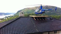 Rooftop helipad Norway