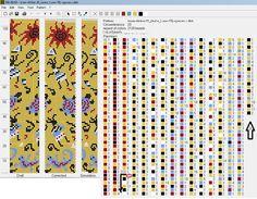 pixels 20 around Bead Crochet Patterns, Beading Patterns Free, Seed Bead Patterns, Bead Crochet Rope, Crochet Bracelet, Loom Patterns, Beading Tutorials, Beaded Crochet, Strands