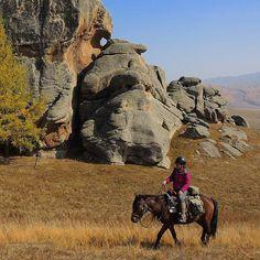 Scenic riding in Mongolia's Gorkhi Terelj National Park. www.stonehorsemongolia.com