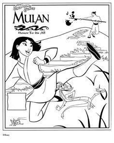 die 36 besten bilder von mulan ausmalbilder | ausmalbilder, ausmalen und disney