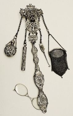 Chatelaine, Date:1700–1940  Culture: American  Medium: silver  Credit Line: Gift of Miss Agnes Clarke, 1940